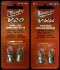 MILWAUKEE V28 WORK LIGHT 4 REPLACEMENT BULBS NIP