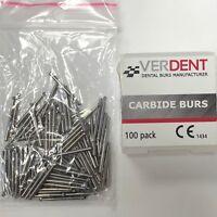 FG4 FG #4 Dental Carbide Burs, (10 Pack) - Friction Grip High Speed, Made in EUR