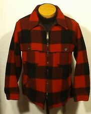 vintage men's plaid Woolrich jacket wool hunting fishing mackinaw size 40 Short