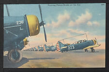 132-MILITARY WWII-USA -Training Planes Ready on the line