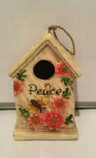 GARDEN ORNAMENT INSPIRATIONS BIRDHOUSE BIRD HOUSE HOTEL NEST NESTING - PEACE
