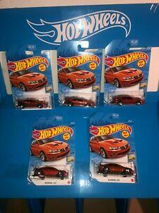 LOT OF (5) 2006 PONTIAC GTO HOT WHEELS,NEW FOR 2021,D CASE,ORANGE,FACTORY FRESH!
