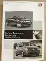 Vauxhall Car and Accessory Price Guide - January 2006