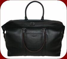 Coach Duffle Overnight Travel Bag Black Pebble Leather Trekker F75715 $698.00