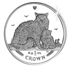 2015 Isle of Man Selkirk Rex Cat Coin 1 oz Silver Proof with Box & Coa