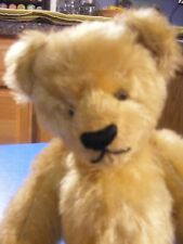"""13"""" Antique Mohair Teddy Bear - Jointed with Shoe Button eyes"""