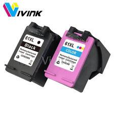 2x Ink Cartridges for HP 61 XL Printer Envy 4500 4504 5530 Officejet 2620 4630
