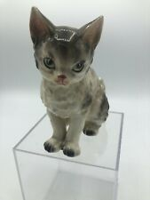 Vintage Lefton's Exclusives Japan Cat Figurine Green Eyes 4.5� Tall