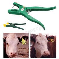 Vieh Tier Ohrmarkenzange Schafe Ohrmarken Zange Applikator Etikett Kennzeichnung