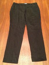 COUNTRY ROAD ~ Black Slinky Feel Skinny Fit Tapered Leg Career Work Pants ~ 8
