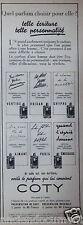 PUBLICITÉ 1938 COTY VERTIGE ORIGAN CHYPRE AIMANT PARIS ÉMERAUDE - ADVERTISING