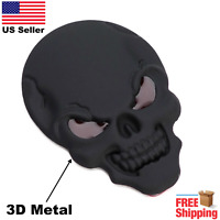 3D Metal Punisher Skull Emblem Sticker Fits Motorcycle, ATV, UTV, Car, & Truck