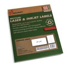 """Skilcraft Printer Address Labels 2"""" x 4"""", 100 Shts 1000 Labels 5163"""