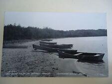 Real Photo Postcard Big Bear Lake at Moore's Cabins Johannesburg Michigan