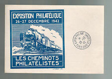 1942 Paris France Postal Stationery Postcard Cover Stamp Exposition