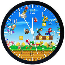 Super Mario Black Frame Wall Clock Nice For Decor or Gifts W425