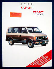 Prospekt brochure 1990 GMC Safari Van (USA)