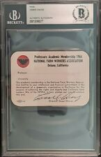 New ListingCesar Chavez signed 1966 National Farm Workers Assc Membership Card - Bas Auto