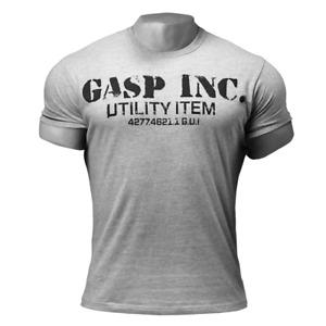 GASP Basic Utility Tee Fitness Bodybuilding T-Shirt Gym Wear grey-melange