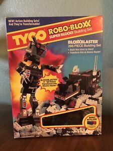 Vintage 1986 Tyco Super Blocks Robo-Bloxx Bloxxblaster Atomic Hauler NIB