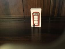 """Cats Meow 1988 Accessories Piece """"Phone Booth�, Retired 12/31/93 Duel Sided"""