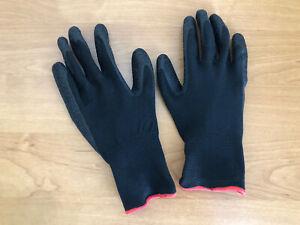 gardening gloves Women Men Youth Black w Orange Trim Work Garden M
