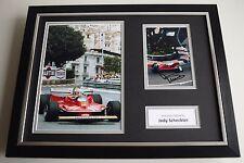 Jody Scheckter SIGNED FRAMED Photo Autograph 16x12 display Formula One AFTAL COA