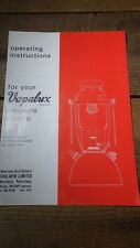 VINTAGE LEAFLET BOOKLET INSTRUCTIONS SPARE PARTS VAPALUX M320 BIALADDIN PRESSURE