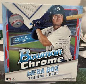 2021 Topps Bowman Chrome MLB Baseball Cards Factory Sealed Mega Box Ready 2 Ship