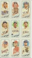 TEXAS RANGERS 2018 Topps Allen & Ginter MINI Parallel TEAM SET w/3 SPs (8 Cards)