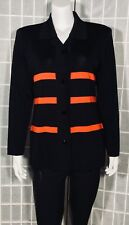 EXCLUSIVELY MISOOK WOMEN'S JACKET BUTTON DOWN SMALL BLACK/RED WORK CAREER