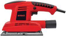 Am-tech V6000 1/3 Sheet 180W Sander W/ Dust Vacuum Connector & 5 Sanding Sheets