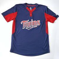Majestic Cool Base Minnesota Twins Jersey Pullover MLB Mens Large Baseball Shirt