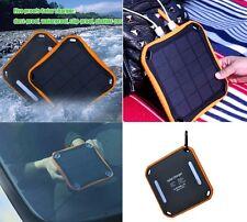 Camping LED Flashlights Waterproof Solar Power Bank, Large panel(2.5W), Dual-USB