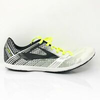 Brooks Mens Wire 4 1000261D159 White Black Running Shoes Lace Up Size 9 D