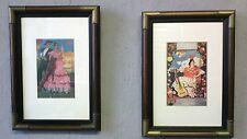 Un maravilloso par de art decó impresiones en latón obligados Marcos español Saville Fiesta