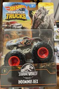 Hot Wheels Jurassic World Monster Trucks Indominus Rex Dinosaur Sealed In Hand