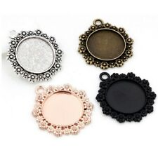 Round Cabochon Cameo Settings Charm Craft 35x32mm Tray For 20mm Jewellery Making