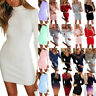 Women Ladies Bodycon Sweater Pullover Jumper Mini Dress Long Sleeve Party Casual