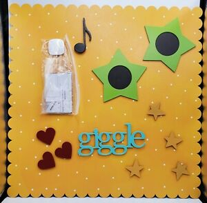 Embellish Your Story Yellow with white Dots Magnetic Board and embellishments