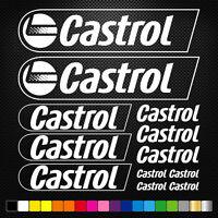 COMPATIBLE CASTROL 12  Autocollants Adhésifs Auto Moto Voiture Sponsor Marques