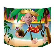 Luau Monkey Photo Prop - 94 x 64 cm - Hawaiian Beach Party Cutouts & Standins