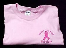 Pink Ribbon Survivor T Shirt Breast Cancer Awareness Pnk Short Sleeve 2XL New