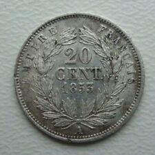 France 20 Centimes 1853 A Napoleon III Silver Coin Si