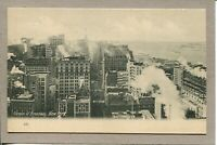 Postcard NY Canyon of Broadway New York City Steam from Buildings c1907 -499