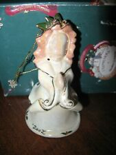 BLUE SKY CLAYWORKS ORNAMENT HEATHER GOLDMINC WHITE & GOLD ANGEL 2002 NIB