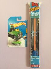 Hot Wheels Track Builder Unlimited Straight Track Pack plus Pedal Driver