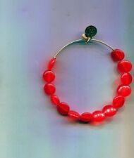 Alex & Ani Christmas Red Gold bead bracelet