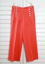J.CREW NWT $118 Sailor Lace Up Button Detail Pants in Heavy Linen Size 0