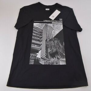 C.P. Company NWT Crew Neck T Shirt Short Sleeve Size L Black Cotton Graphic